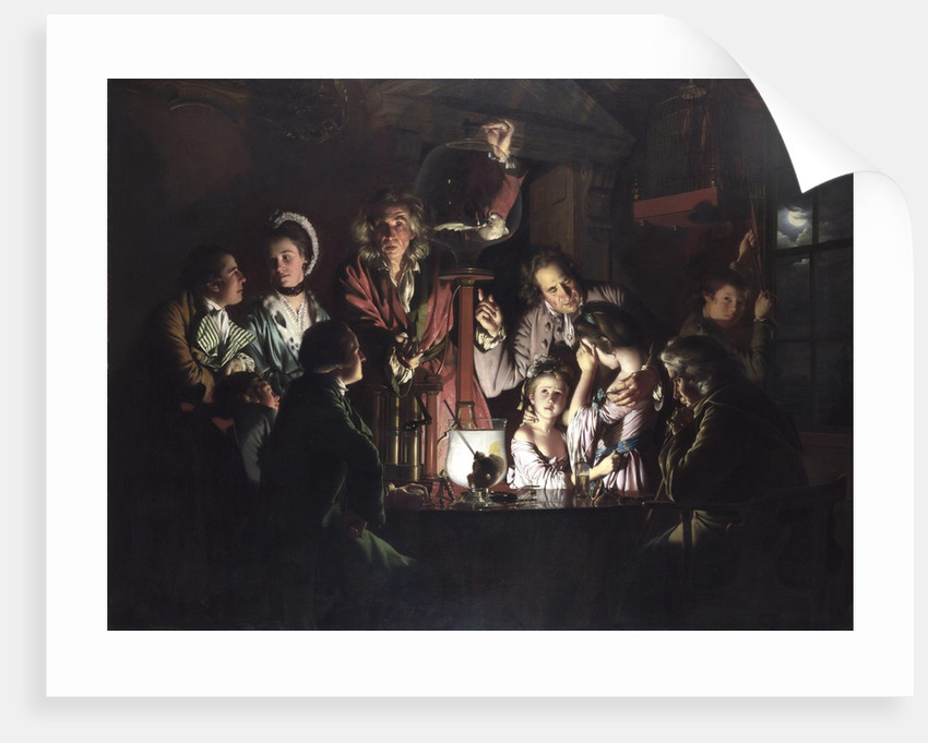 An Experiment on a Bird in an Air Pump by Joseph Wright of Derby