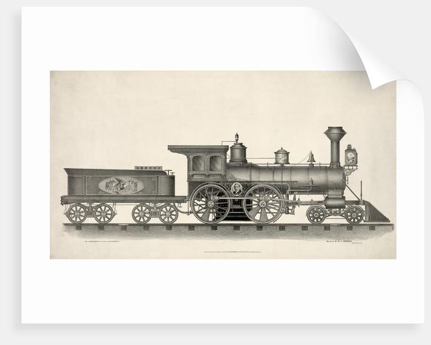 19th century steam locomotive engine by Corbis
