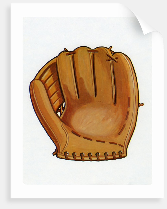 1960s Illustration of a Baseball Glove. by Corbis