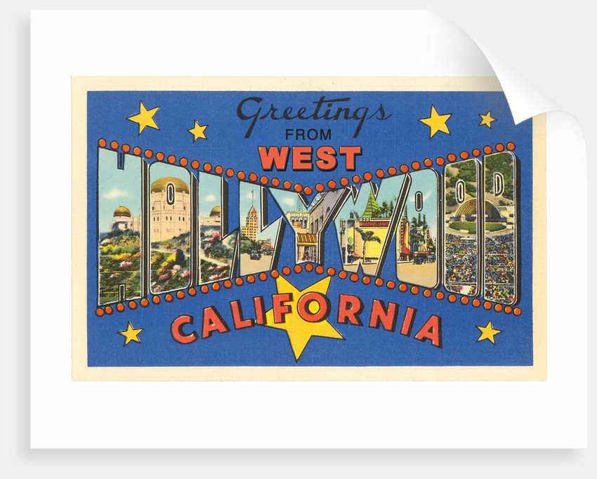 Greetings from West Hollywood, California by Corbis