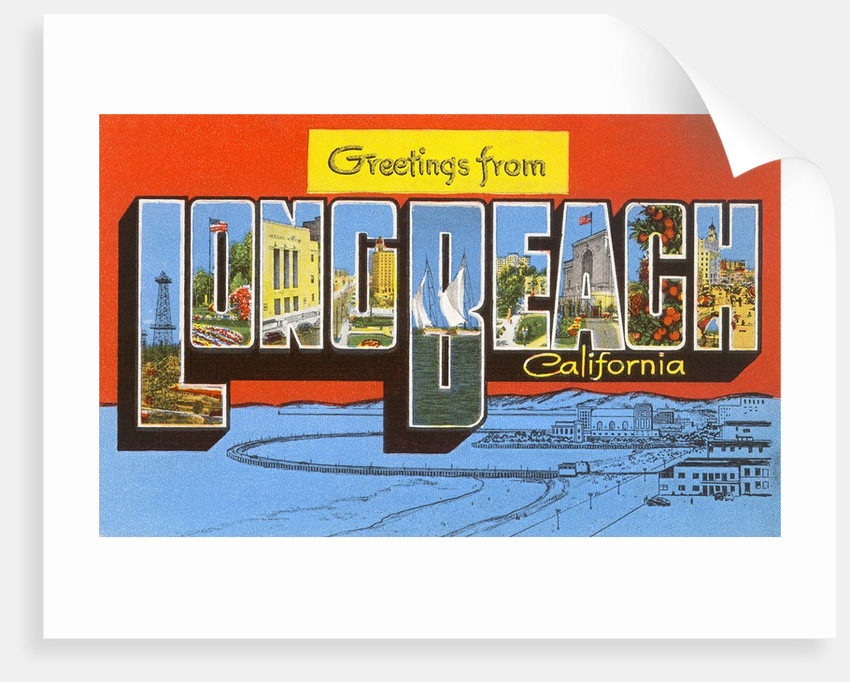 Greetings from Long Beach, California by Corbis