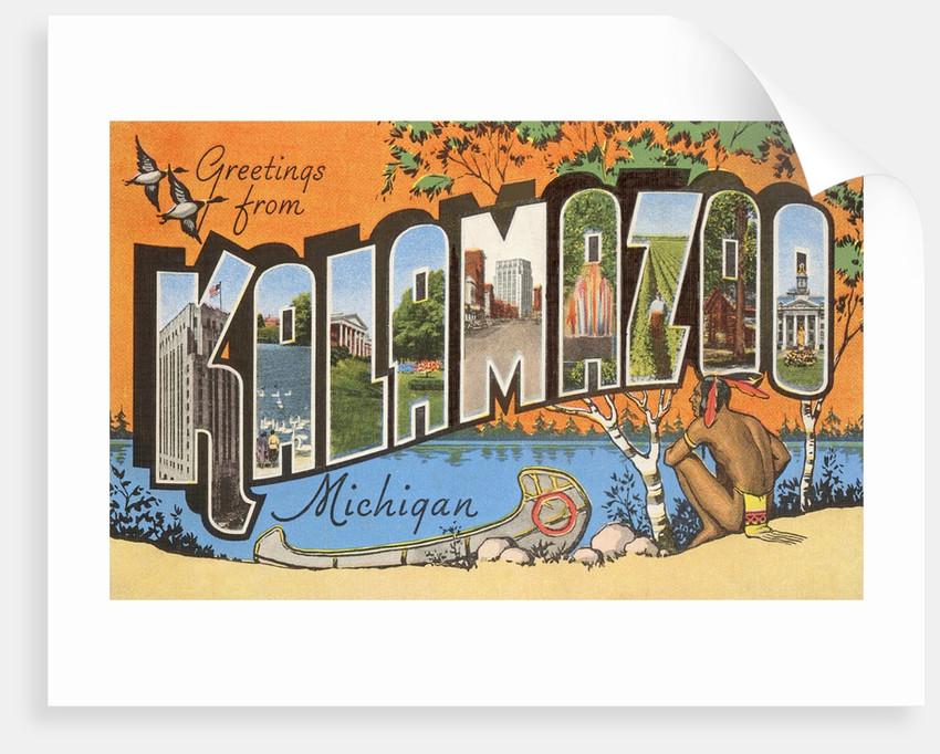 Greetings from kalamazoo michigan posters prints by corbis greetings from kalamazoo michigan by corbis m4hsunfo
