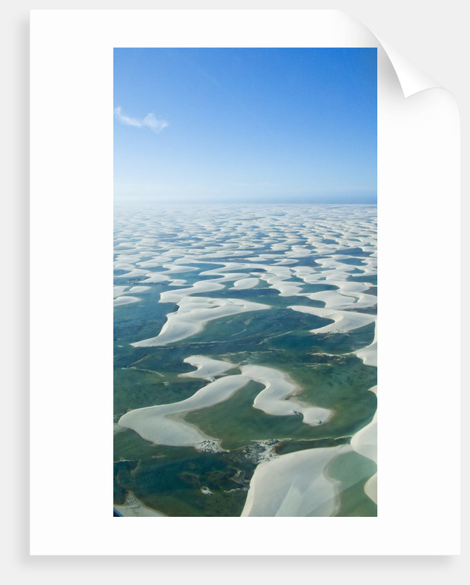 Aerial view of Lencois Maranhenses National Park Brazil by Corbis
