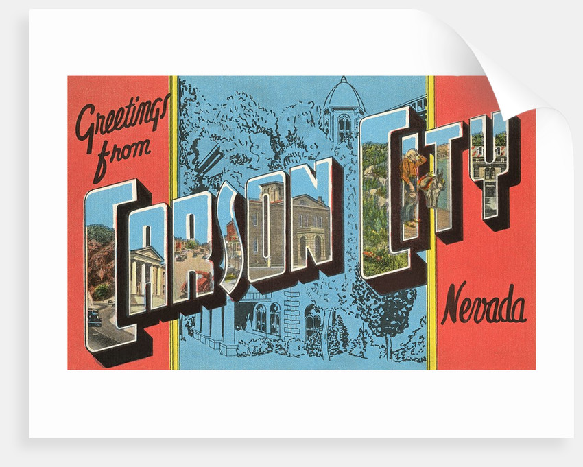 Greetings from Carson City, Nevada by Corbis