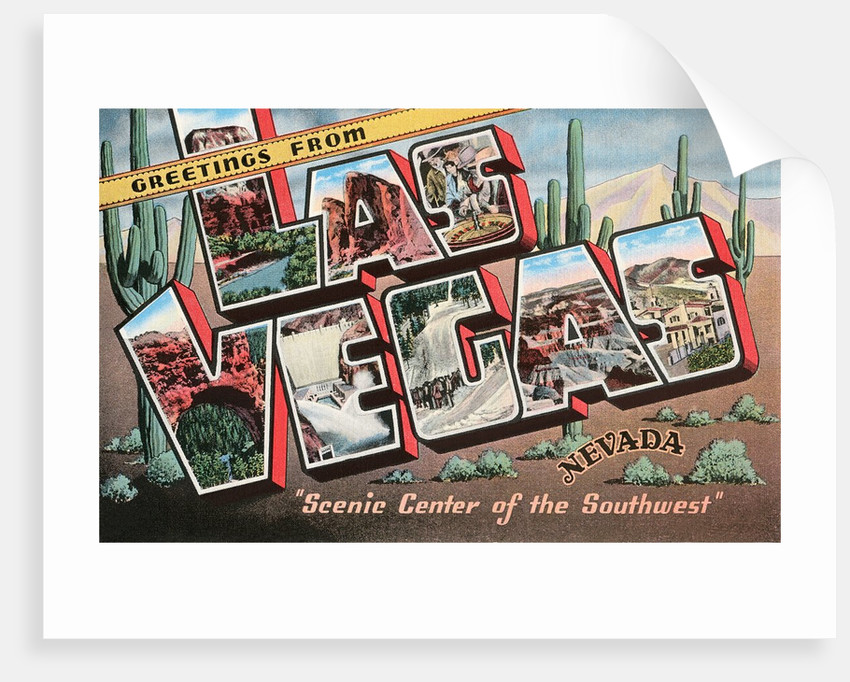 Greetings From Las Vegas Nevada Scenic Center Of The Southwest