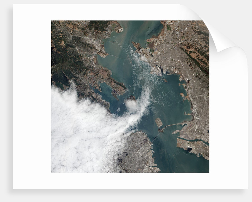 Satellite View of a Foggy Day in San Francisco by Corbis