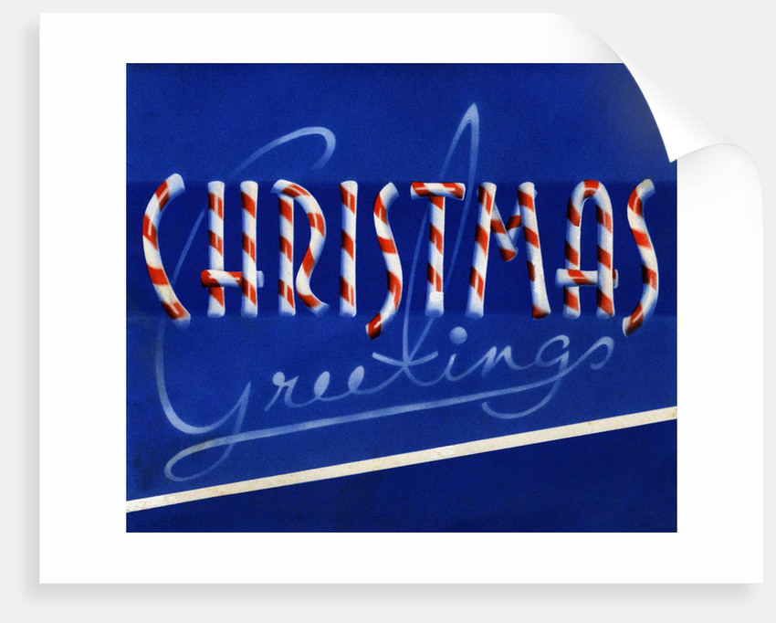 Christmas Greetings made of Candy Canes by Corbis