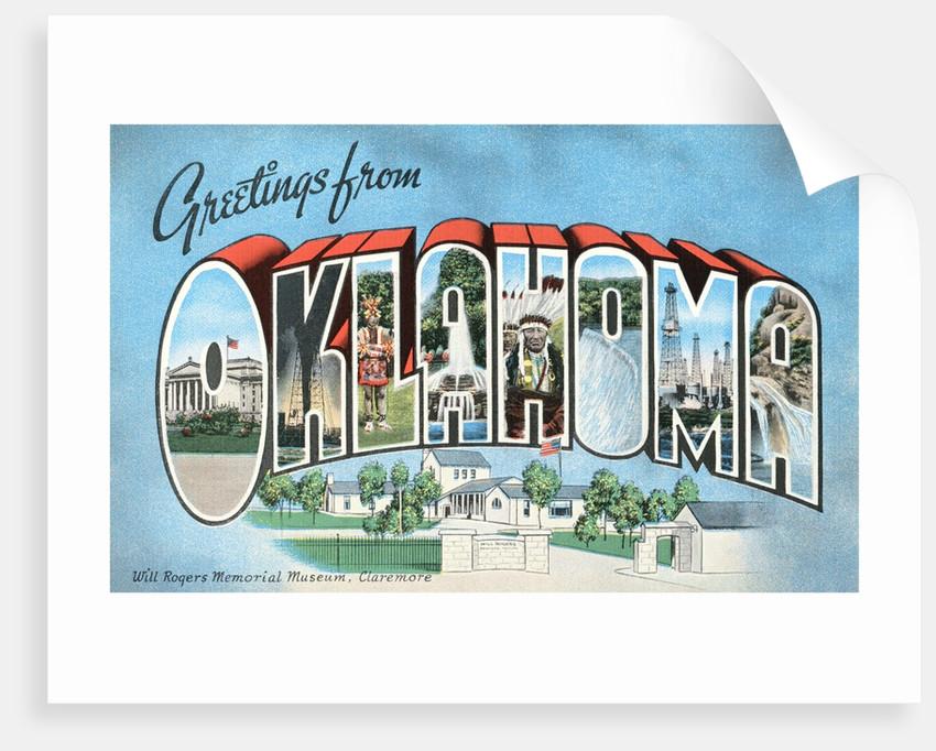 Greetings from Oklahoma vintage postcard by Corbis