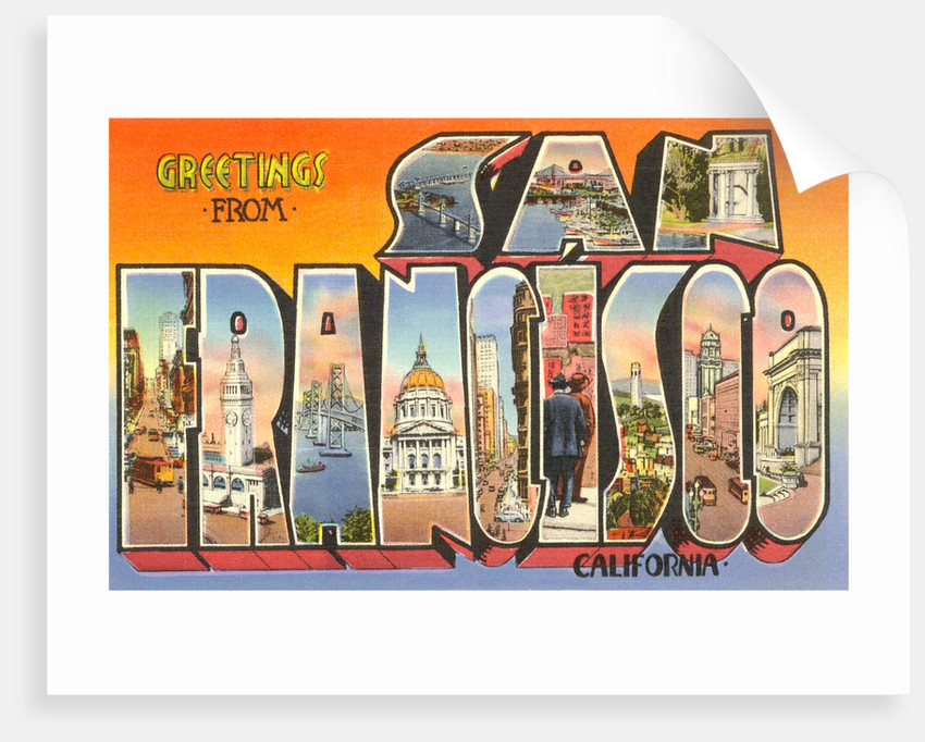 Greetings from san francisco california posters prints by corbis greetings from san francisco california by corbis m4hsunfo