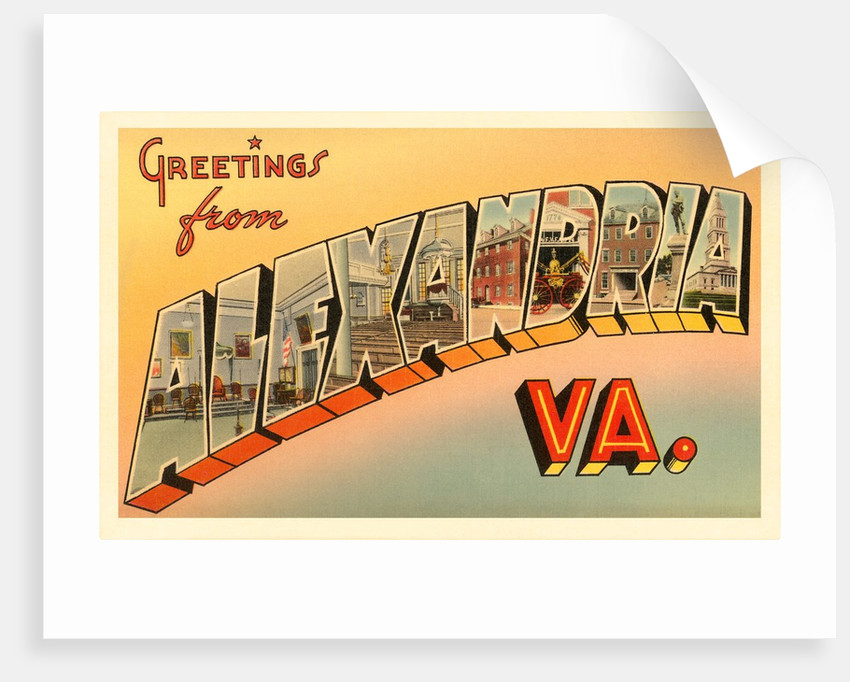Greetings from Alexandria, Virginia by Corbis