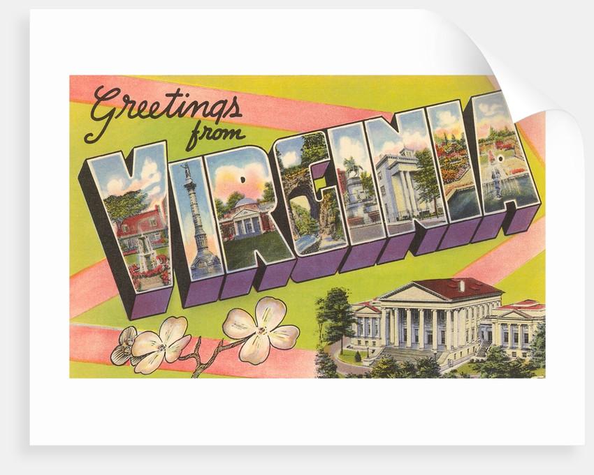Greetings from Virginia by Corbis