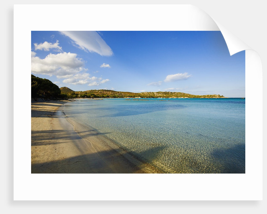 View of Santa Giulia bay, Corsica, France by Corbis