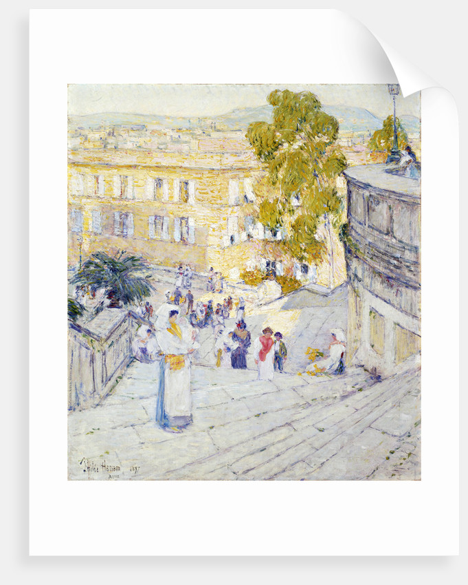 Charming The Spanish Steps Of Rome By Frederick Childe Hassam