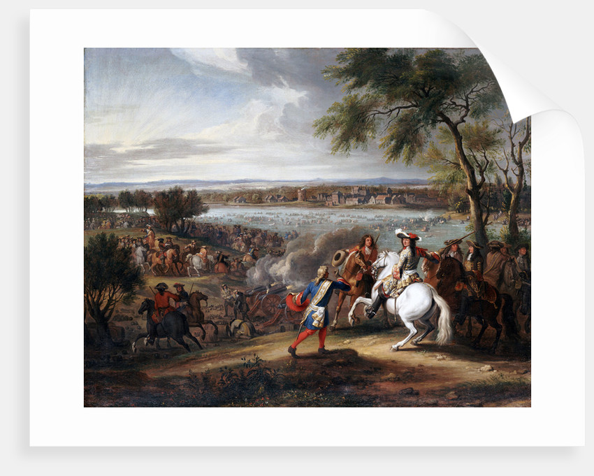King Louis XIV of France Crossing the Rhine near Lobith on 12 June 1672 by Adam Frans van der Meulen