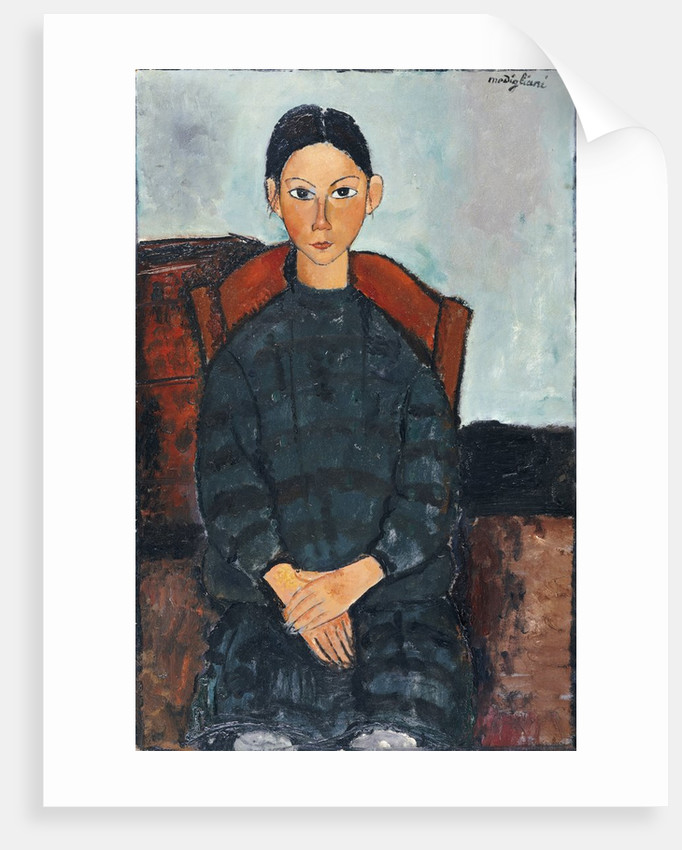 A Young Girl with a Black Apron by Amedeo Modigliani