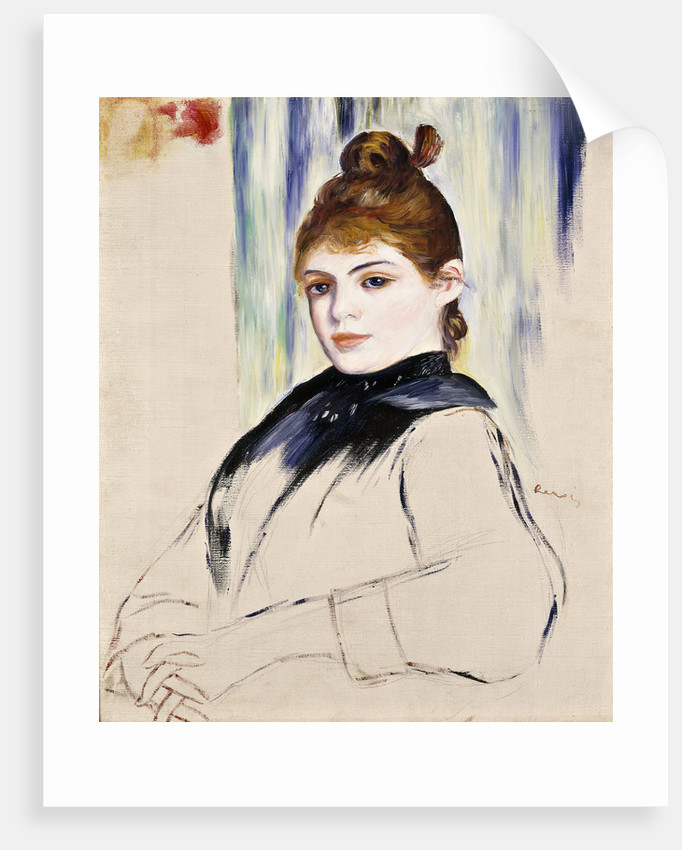 Young Girl with a Chignon by Pierre-Auguste Renoir