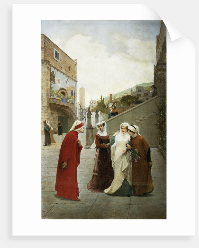 The Meeting of Dante and Beatrice by Lorenzo Valles