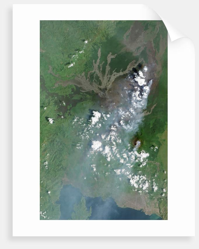 Lava Flow near Nyamuragira Volcano by Corbis
