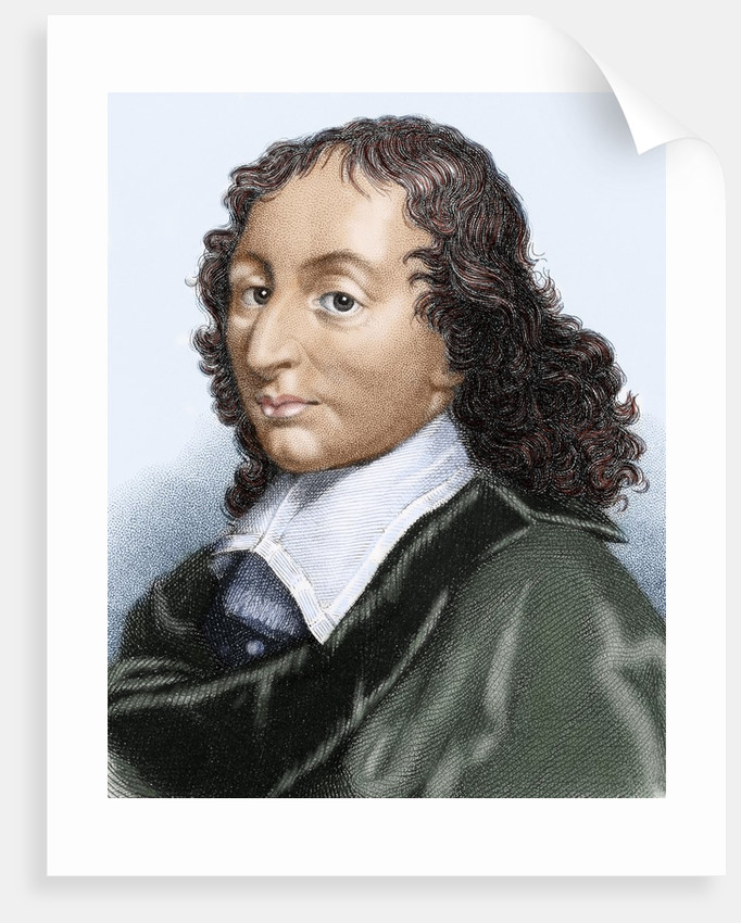 Pascal, Blaise (1623-1662). Colored engraving by Corbis