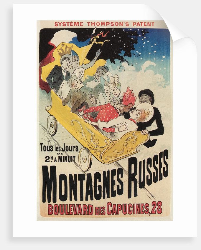 French Roller Coaster Poster by Corbis