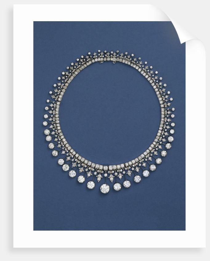 A Victorian diamond fringe necklace, circa 1870 by Corbis
