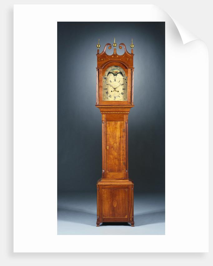 A rare federal inlaid cherrywood tall-case clock by Corbis