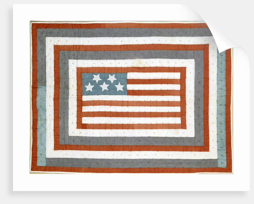 American pieced cotton coverlet by Corbis
