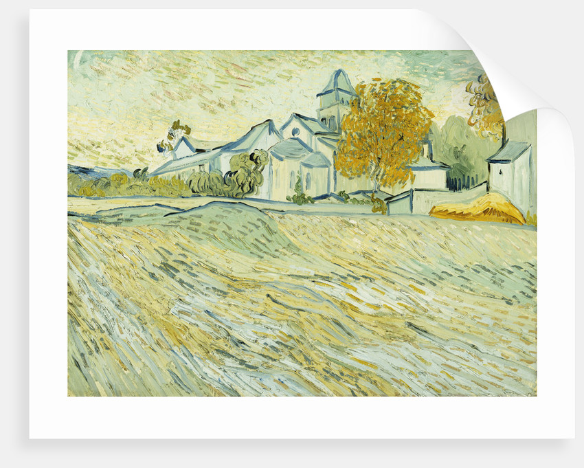 View of Asylum and Saint-Remy Chapel by Vincent Van Gogh