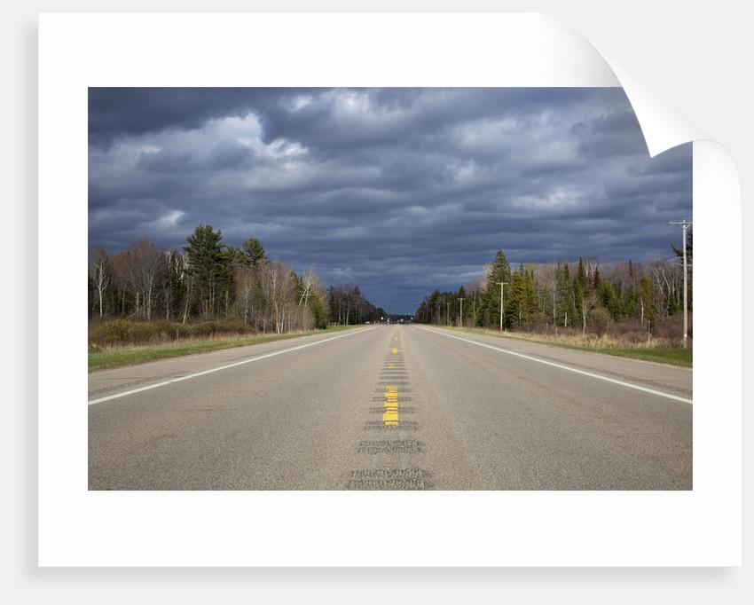 Highway on Upper Peninsula, Michigan by Corbis