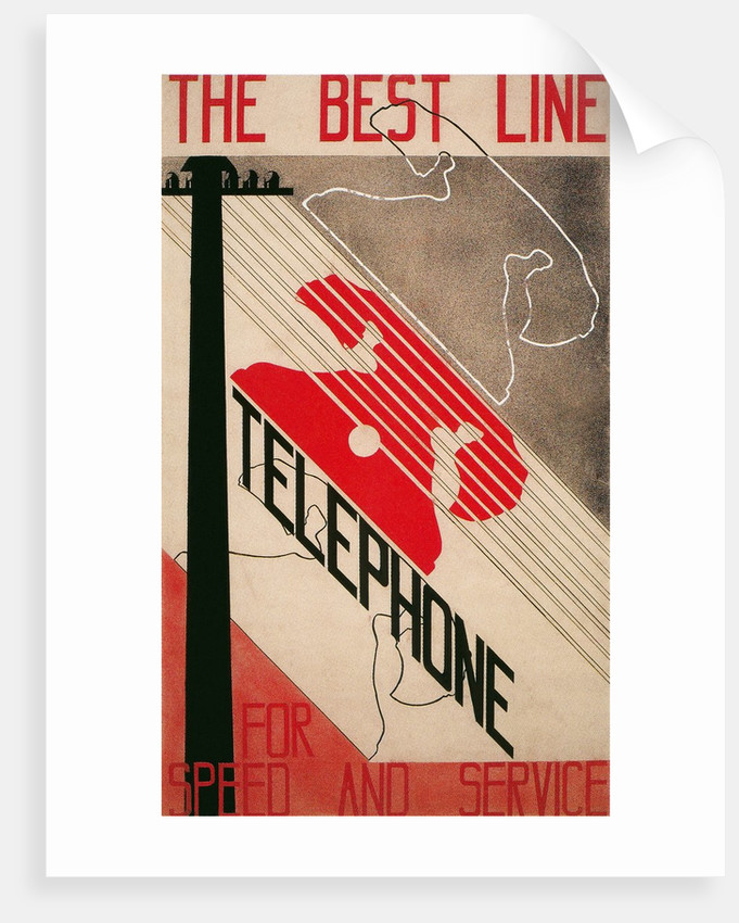 Advertisement for Best Line Telephone by Corbis