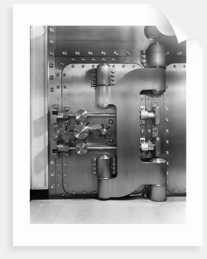 1930s bank vault by Corbis