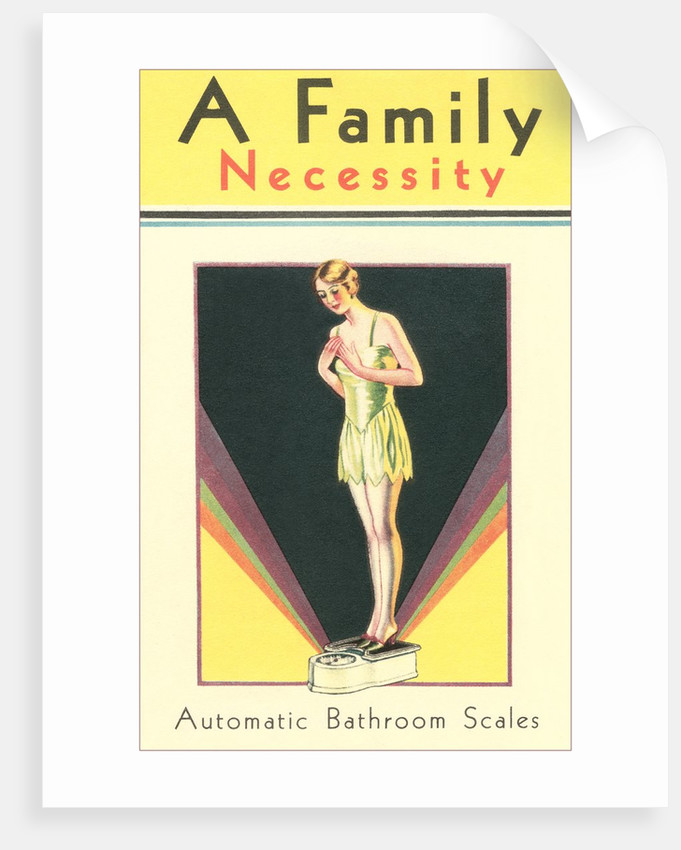 Bathroom Scale, A Family Necessity by Corbis