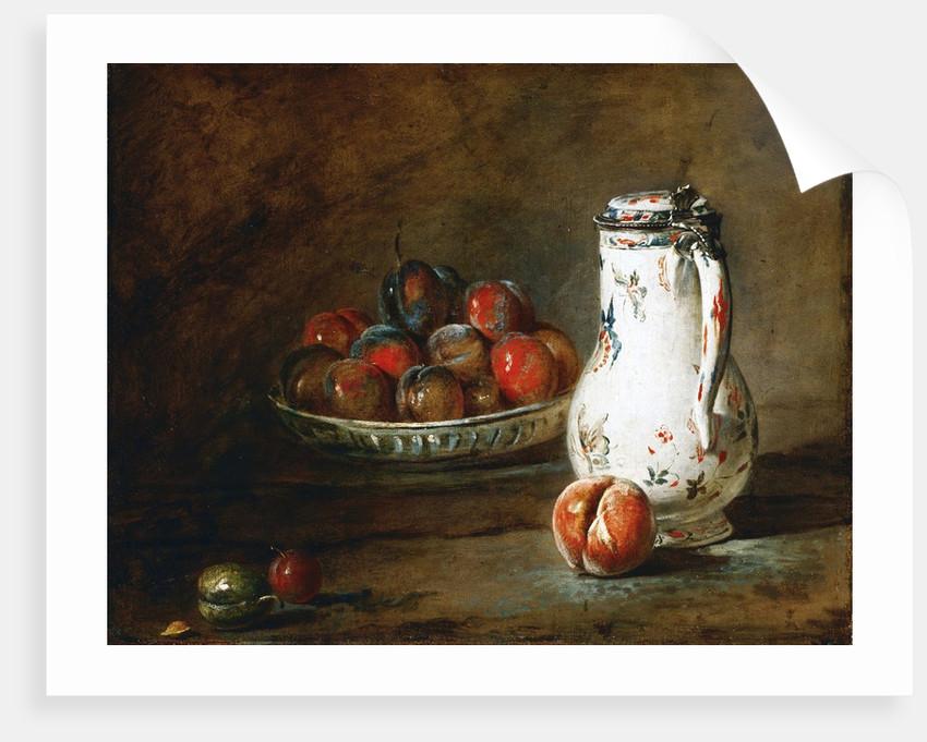 A Bowl of Plums by Jean-Baptiste-Simeon Chardin