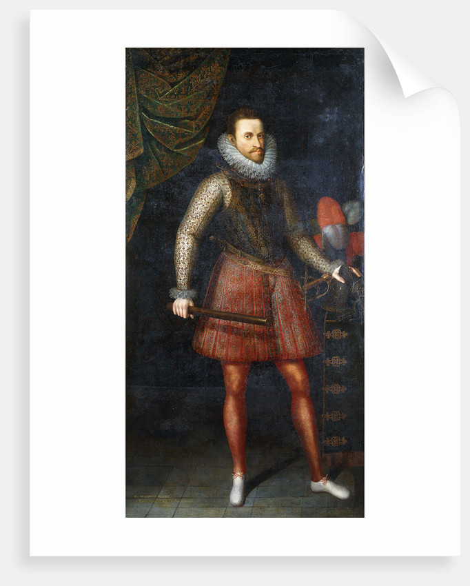 Portrait of the Archduke Albert, standing full-length holding a Baton by Alonso Sanchez Coello
