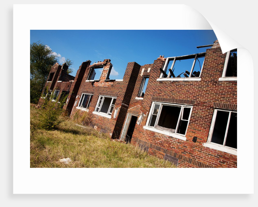 Deserted Red Brick Apartments East St Louis By Corbis