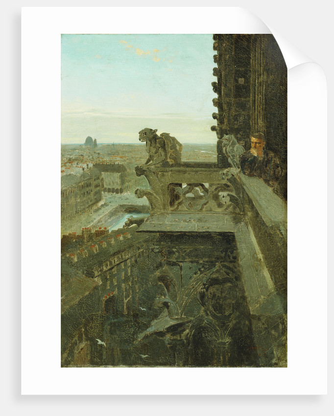Gargoyles at Notre Dame by Winslow Homer