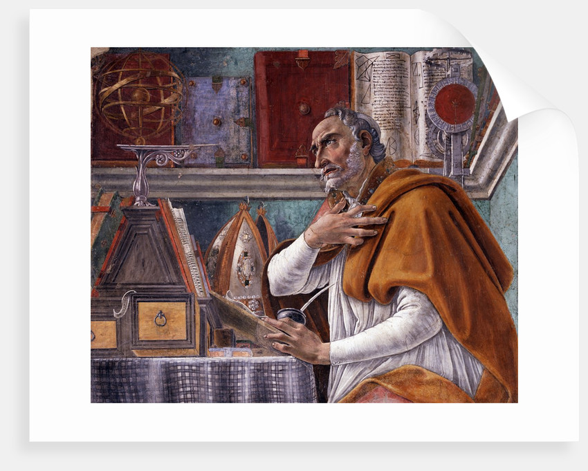 Detail of Saint Augustine in His Study by Sandro Botticelli