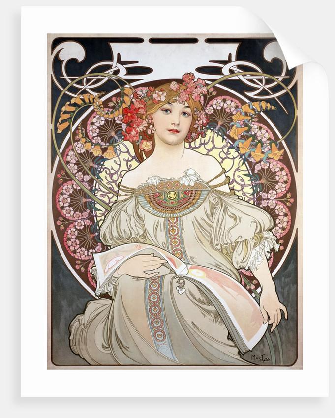 Calendar Illustration by Alphonse Mucha