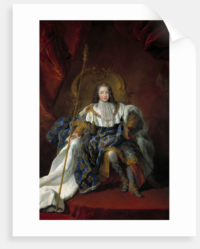Portrait of Louis XV by Alexis Simon Belle