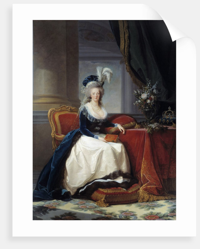 Portrait of Marie Antoinette, Queen of France by Elisabeth Vigee-Lebrun