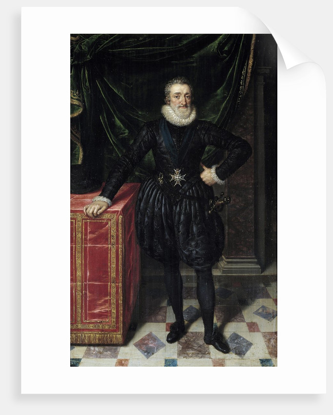 Portrait of Henri IV by Frans Pourbus the Younger