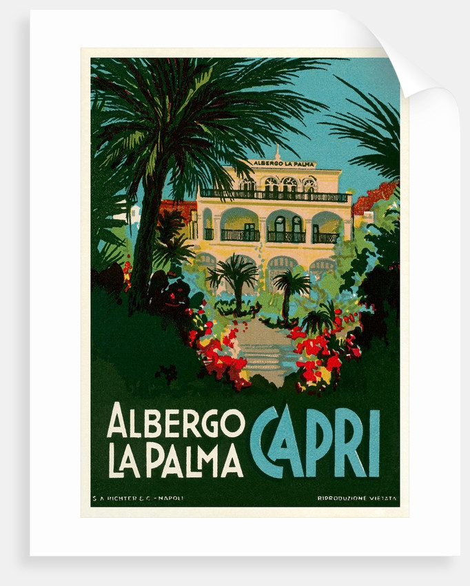 Travel Poster for Capri, Italy by Corbis