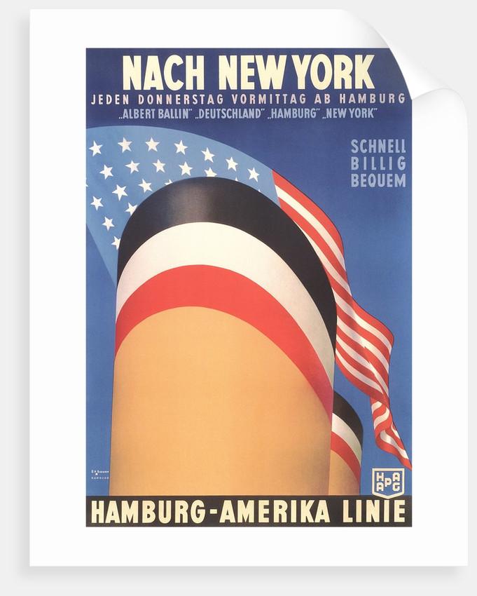 Hamburg America Line, Ship Funnel by Corbis