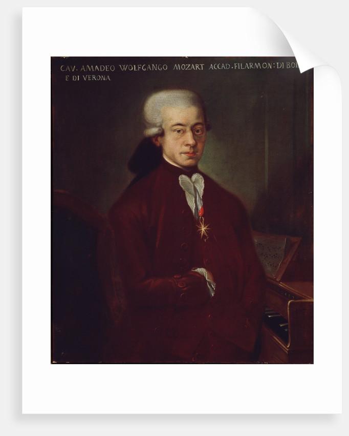 Portrait of Austrian composer Wolfgang Amadeus Mozart by Corbis