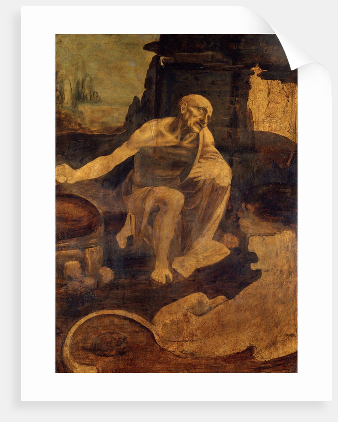 Saint Jerome in the Wilderness by Leonardo da Vinci