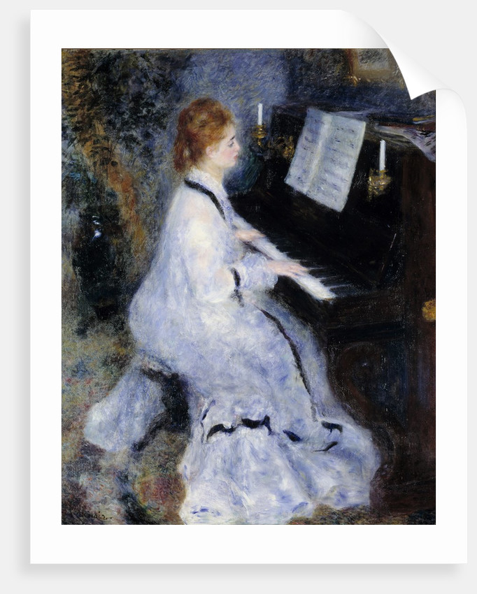 Fine Art Prints Music Piano Girl Impressionism Greeting Card With Envelope Inside Premium Quality