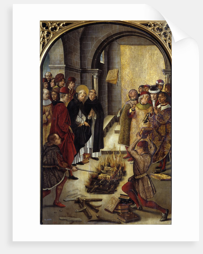 Saint Dominic and the Albigenses (The Miracle of Fanjeaux) by Pedro Berruguete