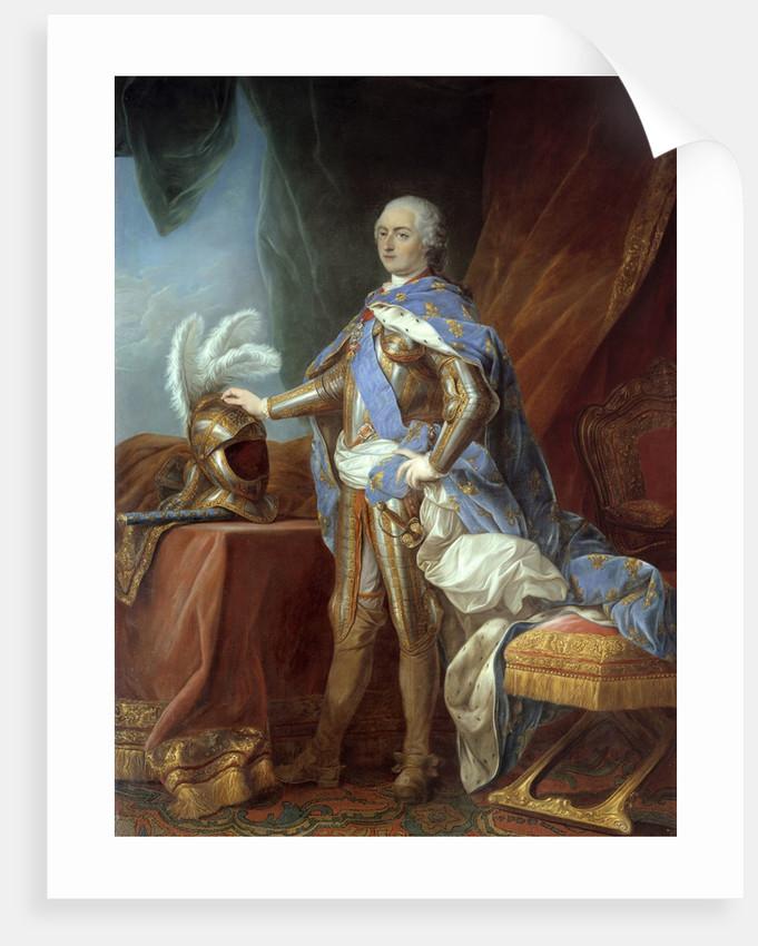 portrait of louis xv in armor posters prints by carle van loo