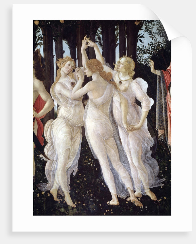 Detail Showing the Three Graces from Primavera by Sandro Botticelli