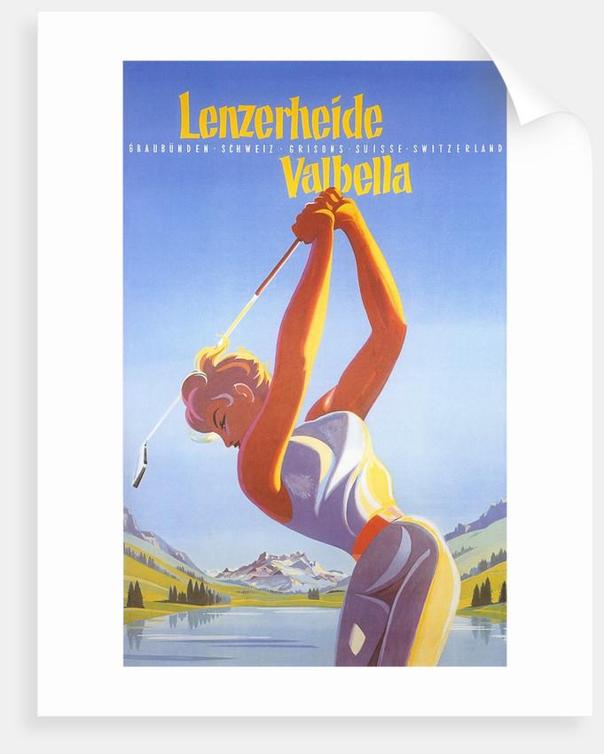Golfing in Switzerland by Corbis